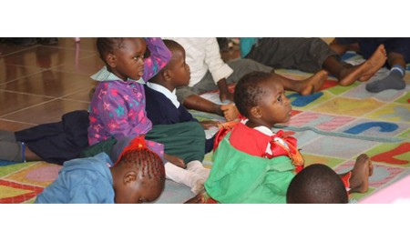 RU celebrates World Book Day with children from Becky School, Kibera.
