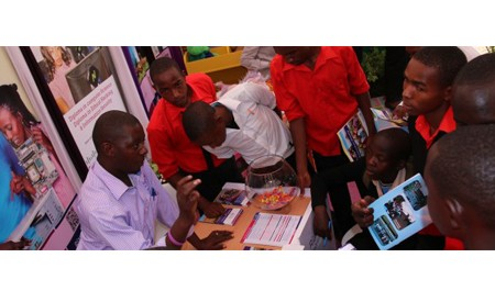 Riara University at the CUE exhibition in Machakos